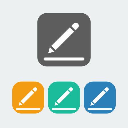 adress: note icon on the white background. Vector illustration.