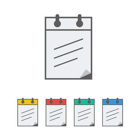 adress: notebook icon on the white background. Vector illustration.