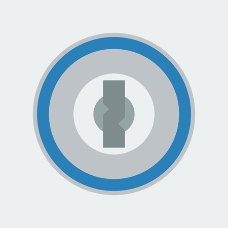 safeguarding: password icon on the white background. Vector illustration.