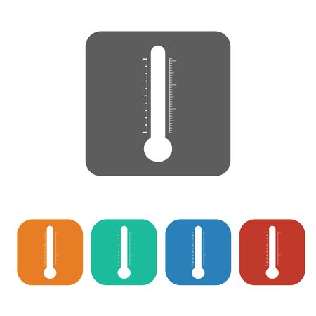 thermostat: temperature icon on the white background. Vector illustration.