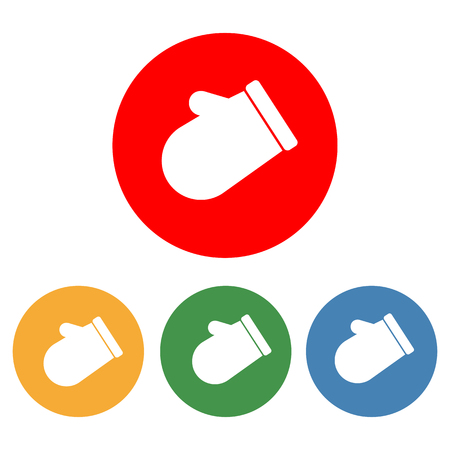 mittens: Mittens icon on the white background. Vector illustration.