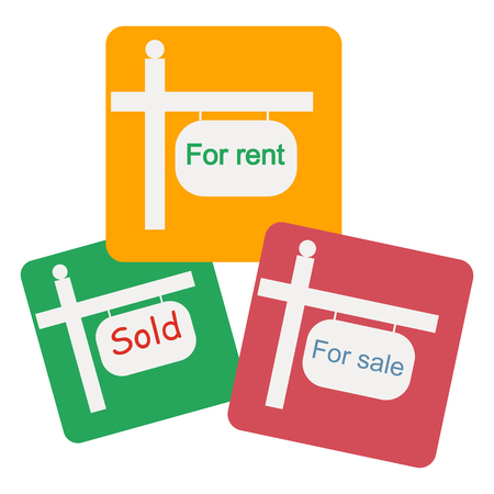 home ownership: for rent. for rent icon on the white background. vector illustration.
