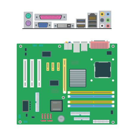 white backgroung: motherboard. motherboard icon on the white backgroung. vector illustration.