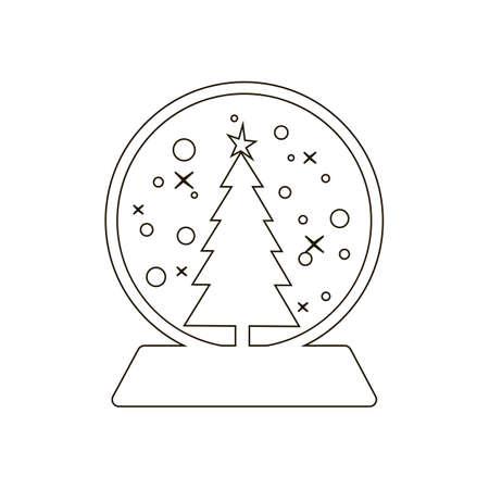 boule de neige: icon Snowball sur le fond blanc. Vector illustration. Illustration