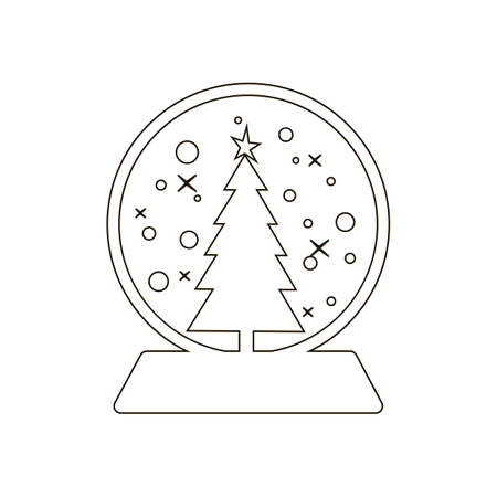 snowball: Snowball icon on the white background. Vector illustration. Illustration