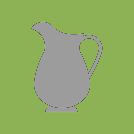 decanter: Decanter Carafe Vector Icon on the green background. Vector illustration