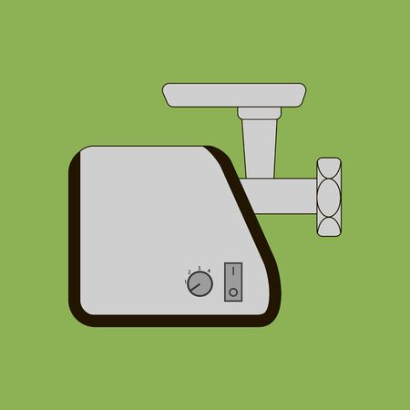 meat  grinder: Meat Grinder Icon on the green background. Vector illustration