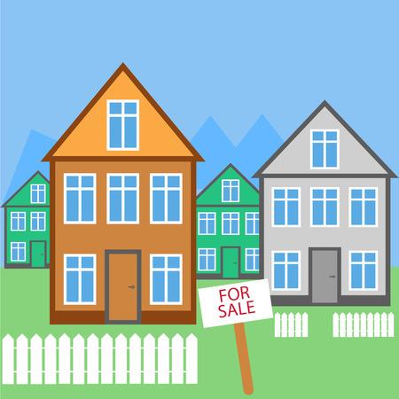 house for sale: House For sale. House for rent. Vector icon