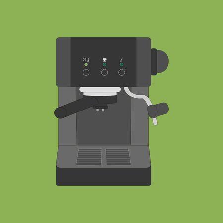 espresso machine: Coffee Espresso Machine Icon on the green background. Vector illustration
