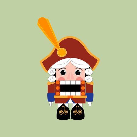 nutcracker: Nutcracker Icon on the green background. Vector illustration