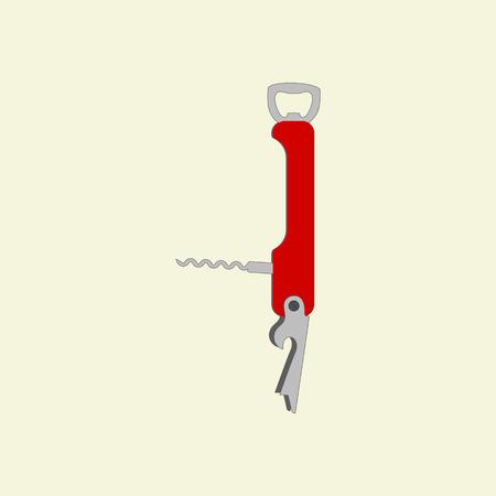 multi: Pocket Multi tool Icon on the yellow background. Vector illustration Illustration