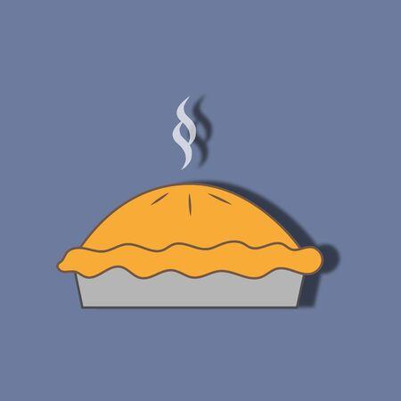 apple pie: Pie dessert icon. Apple pie. Vector illustration