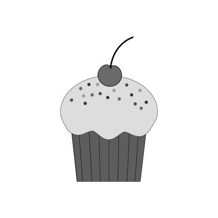 cupcake illustration: Cupcake dessert icon. Pastry. Muffin. Vector illustration