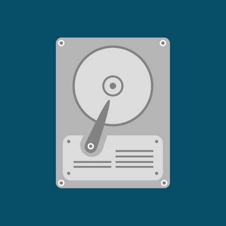 hard disk drive: HDD Icon. Hard disk drive. Vector illustration Illustration
