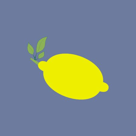 citrus tree: Lemon Citrus Icon on the blue background. Vector illustration Illustration