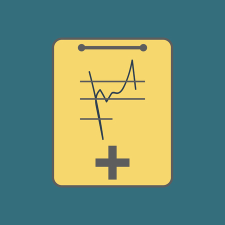 medical clipboard: Medical Notebook Icon. Hospital clipboard. Vector illustration
