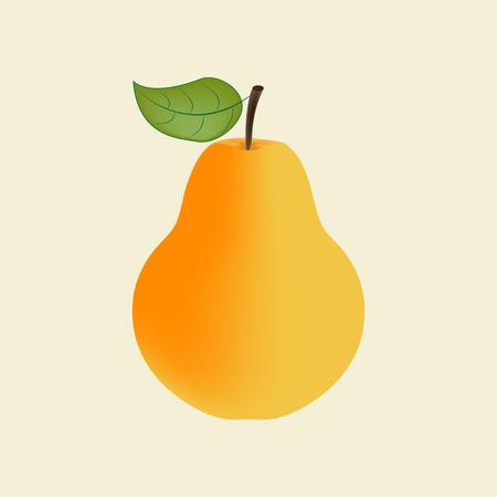Gruszka Ikona owoców. ilustracji wektorowych