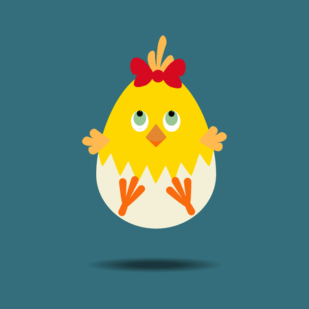 Easter Chicken Icon. Egg. Chick. illustration