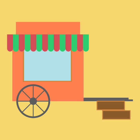 traders: Trade tent icon. Market. Store. illustration