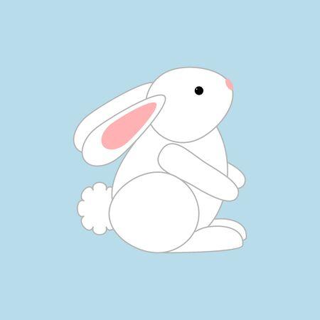 grass weave: Rabbit Bunny Icon. Easter holiday. illustration Illustration
