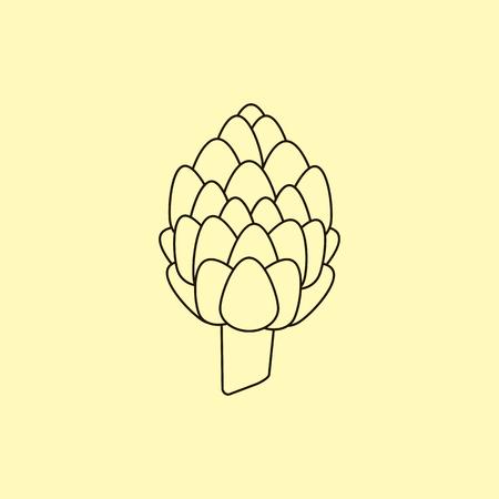 artichoke: Artichoke icon, vector Artichoke. Organic food, farm food. Vegetable Icon.