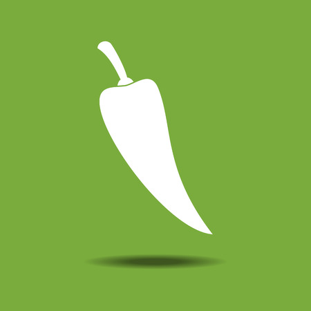 jalapeno: Jalapeno Vegetable icon isolated on a yellow background. Vector illustration. Silhouette