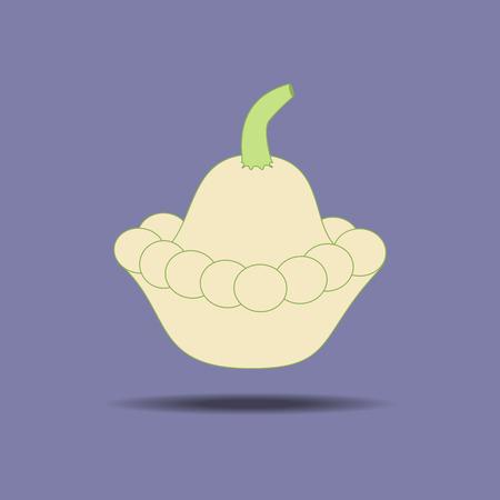 squash: Squash Vegetable Icon on a purple background. Vector illustration
