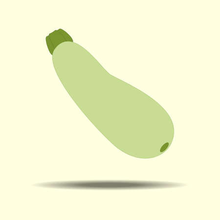 squash: Squash Zucchini Vegetable Icon on a yellow background. Vector illustration