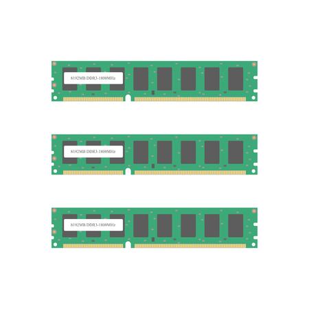 ram memory: Random Access Memory icon. RAM. Computer memory. Vector illustration Illustration