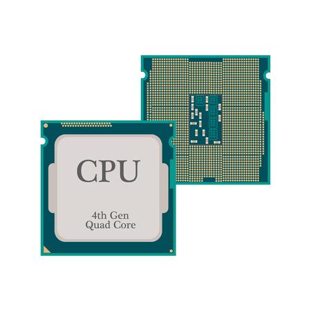processor: CPU Processor icon on the white background. Vector illustration