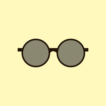 round glasses: Round Sun Glasses. Eye Glasses Icon. Vector illustration