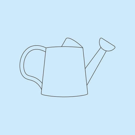 bailer: Watering Can Icon on the blue background. Vector illustration Illustration