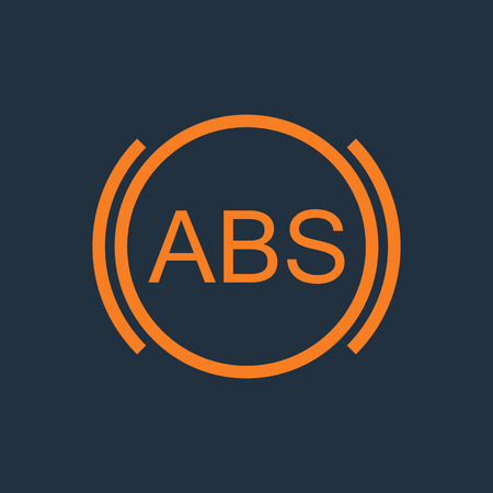 abs: ABS icon. Brakes antilock system sign. Linear outline icon on white background. Vector