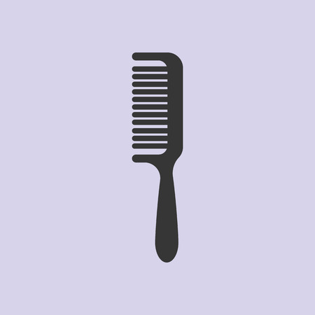 comb hair: Comb vector, barber comb, salon comb, comb hair, black comb. Vector illustration Illustration