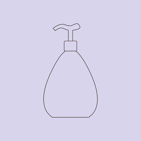 aftershave: Dispenser bottle icon. Cosmetic packaging, plastic tube. Vector. Illustration