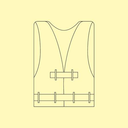 life jackets: Life Vest Icon. Safety Vest Icon. Vector illustration