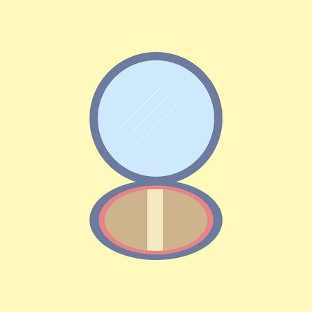 シュー ボックスのアイコン。粉体を確認します。ベクトル図