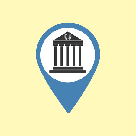 athens: Sightseeing Pin. Greece Athens Icon. Vector illustration