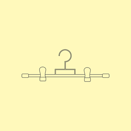trousers: Trousers Hanger Icon. Clothes Hanger icon. Dress Hanger. Vector illustration