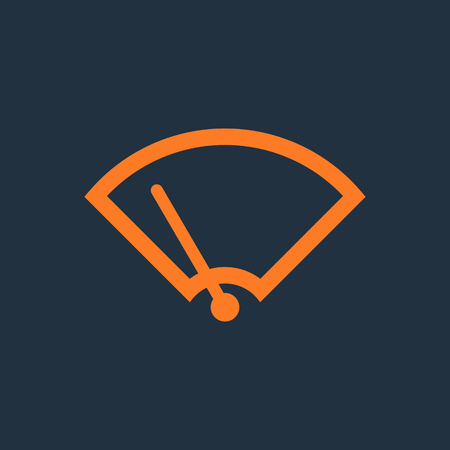 windshield wiper: Windshield Wiper Icon. Car wiper. Single flat icon on blue background. Vector illustration.