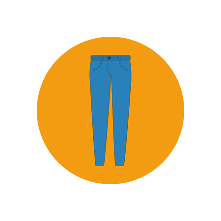 trousers: Jeans pants trousers. Vector illustration. Pants icon