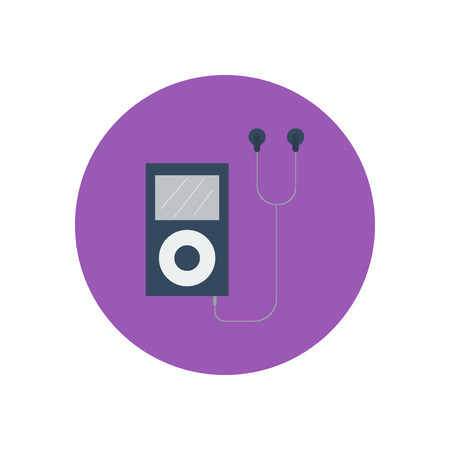 portable player: mp3 player icon. Vector illustration. Media player. Portable music device