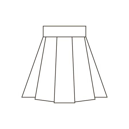 mini skirt: Skirt vector icon. Skirt illustration. Vector illustration