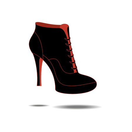 oxford: Ankle boots shoes. Shoes illustration. Boots icon. Vector illustration Illustration