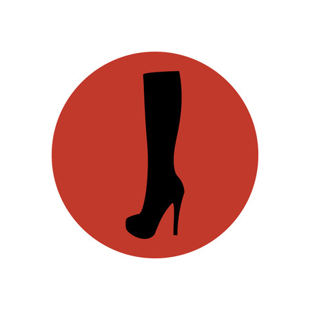 knee boots: Boots illustration. Shoes illustration. Boots icon. Vector illustration