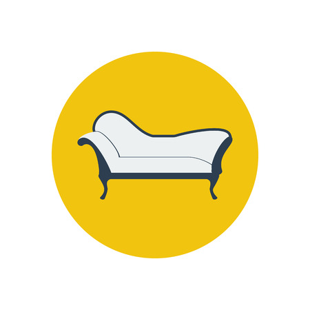 chaise lounge: Chaise lounge armchair. Seat. Furniture icon. Vector illustration