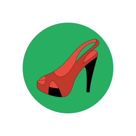 peep toe: High heels illustration. Shoes illustration. Shoes icon. Vector illustration Illustration