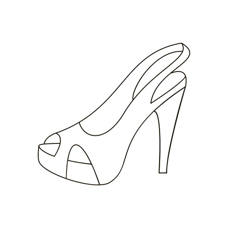 oxford: High heels illustration. Shoes illustration. Shoes icon. Vector illustration Illustration