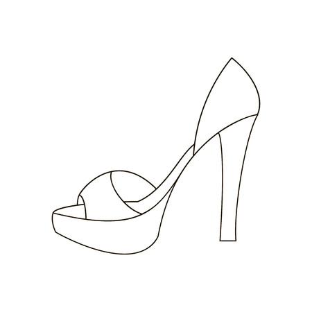 High heels illustration. Shoes illustration. Shoes icon. Vector illustration Illustration