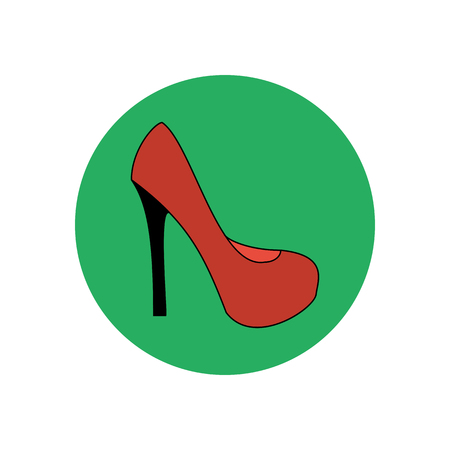 knee boots: High heels illustration. Shoes illustration. Shoes icon. Vector illustration Illustration